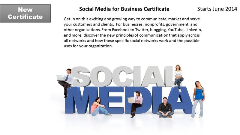 Social Media For Business Certificate