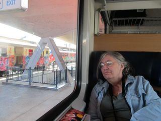 Asleep on train