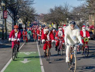 Biking Santas