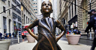 Fearless Girl three