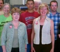 Tammy Baldwin with VolunteersCrop