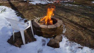 Fire in backyard 007